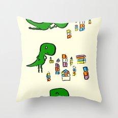 Tim the T Rex Throw Pillow