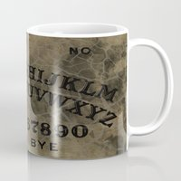 ouija Mugs featuring Ouija by Andrea Raths