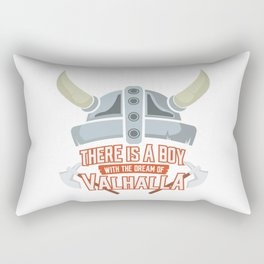 Viking Baby Son Dad Fathers Day Valhalla Gods Gift Rectangular Pillow