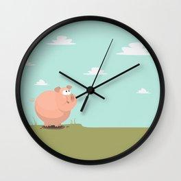 Feed the piggy Wall Clock