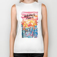 architect Biker Tanks featuring Architect Heart by Anwar B