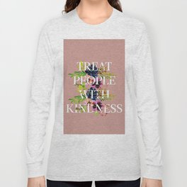 Treat People With Kindness graphic artwork / Harry Styles Long Sleeve T-shirt