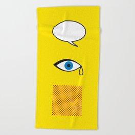 Iconic Painters: Roy Lichtenstein Beach Towel