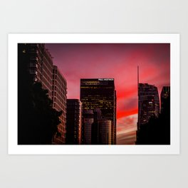 Skyscapes in Los Angeles Art Print