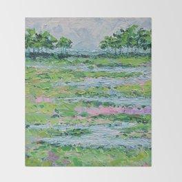 Marsh Romance No. 2 Throw Blanket