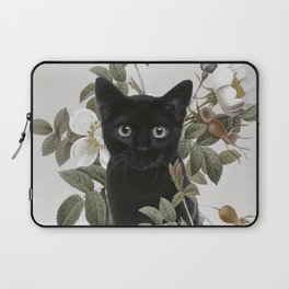 Cat With Flowers Laptop Sleeve