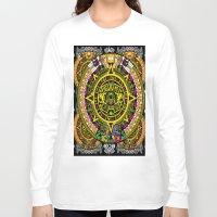 fabric Long Sleeve T-shirts featuring Fabric Pattern by Eduardo Doreni
