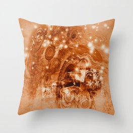 Rusty ghost wreck Throw Pillow