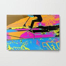 High-Flyin' Scooter Champ Metal Print