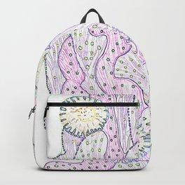 Blooming Cactus, White, Pink & Violet Backpack