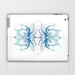 Lotus Flower - Blue Laptop & iPad Skin