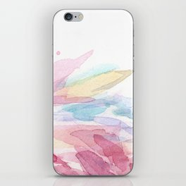 Pink Flamingo Soft Feathers Pastel Watercolor Texture iPhone Skin