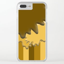 Shades of Brown 4 Clear iPhone Case