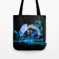garrus Tote Bags featuring Garrus Vakarian with shades by TheEmbraced