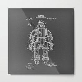 Submarine Armor Patent Black And White Diagram Metal Print