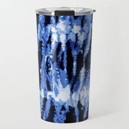 Blue Shibori Z Travel Mug