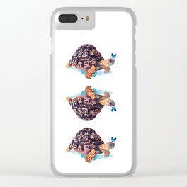 Tortoise and Butterfly Clear iPhone Case