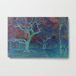 Spooky Oak Trees Metal Print
