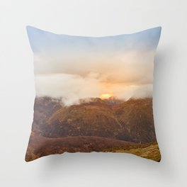 Sunrise over Mourne Mountains Northern Ireland Throw Pillow