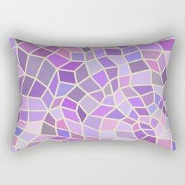 Violet Mosaic Tiles Rectangular Pillow