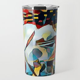 Daisy One Abstract Travel Mug