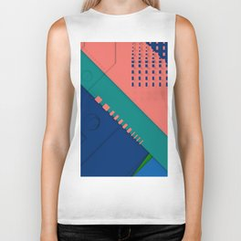 Color material design, paper layers with dynamic halftones Biker Tank