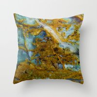 tie dye Throw Pillows featuring Tie Dye by Ian Bevington
