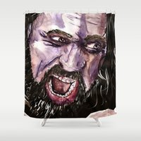 hercules Shower Curtains featuring Hercules / Dwayne Johnson The rock by Siriusreno