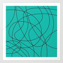 Lines Turquoise Art Print