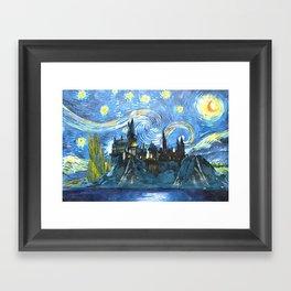 Starry Night(Hogwarts Castle) Framed Art Print