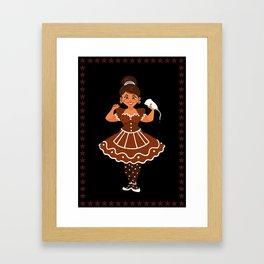 Christmas Cards - Ginger Bread Framed Art Print
