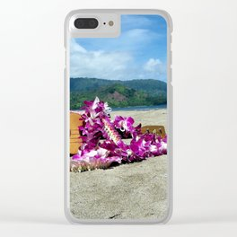 Ukulele at the bay Clear iPhone Case