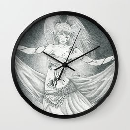 Ritual dancer Wall Clock