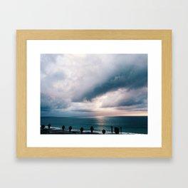 Pacific Storm Sunset Framed Art Print