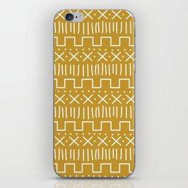 Mustard Mud Cloth iPhone Skin