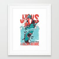 jaws Framed Art Prints featuring Jaws by Tshirt-Factory