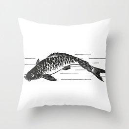 Koi Japanese fish Throw Pillow