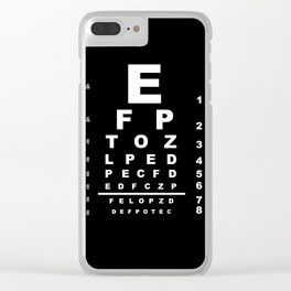 Inverted Eye Test Chart Clear iPhone Case