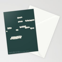Blackout Poem {003.} Stationery Cards