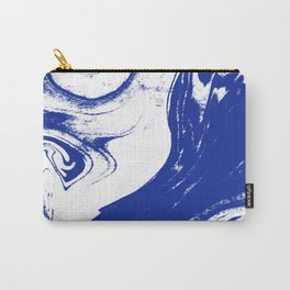 Marble blue 1 Suminagashi watercolor pattern art pisces water wave ocean minimal design Carry-All Pouch
