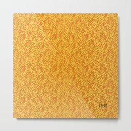 Feathered Flocks - Tangerine Metal Print