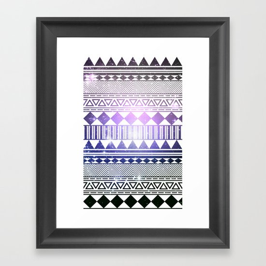 galaxy navajo tribal pattern Framed Art Print