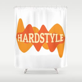 Hardstyle Equalizer | Electro Techno Party Shower Curtain