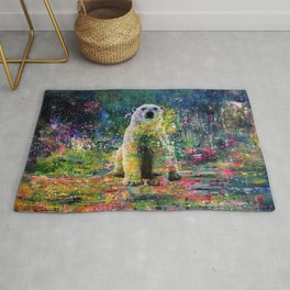 Colorful Polar Bear Watercolor Rug