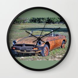 MG B Wall Clock