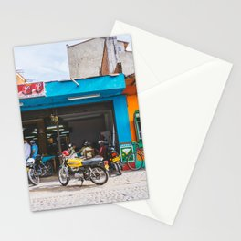 On the Street, Guatape, Colombia Stationery Cards
