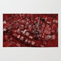 gotham Area & Throw Rugs featuring Gotham by Drawsilva