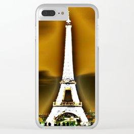 Eiffel blur Clear iPhone Case