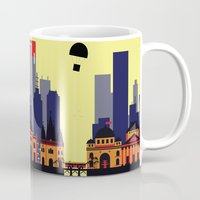 melbourne Mugs featuring Lovely Melbourne by Jollybird Designs