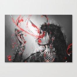 Vampire art - Underworld twilight queen in ultraviolet blood Canvas Print